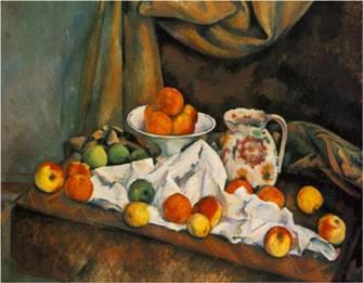 Naturaleza Muerta - Cezanne. Compotier, Pitcher and Fruit (1892)